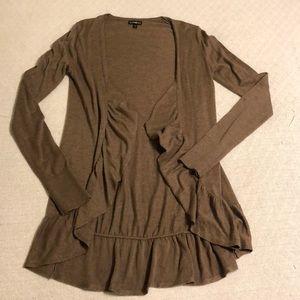LIKE NEW Express Light Brown Long Sleeve Cardigan